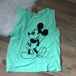 Mickey Mouse Lime Green Tank